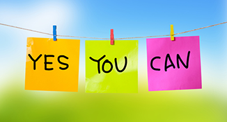 Image of image of Labels saying yes you can
