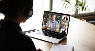 Image of Colleagues on a group video call